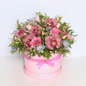 Orchid Hat Box