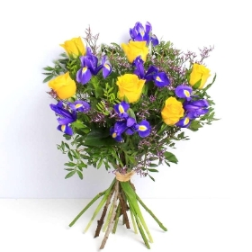 Rose and Iris Hand tied