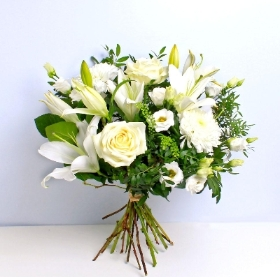 Timeless Whites Hand tied