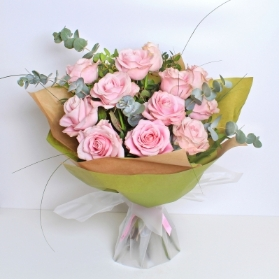 Luxury Pink Rose Hand tied